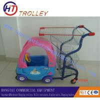 Wholesale Foldable Plastic Supermarket Baby / Kids Shopping Cart With TPR Wheel from china suppliers