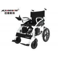 Wholesale Lightweight Folding Wheelchair Black Color , Compact Electric Wheelchair from china suppliers