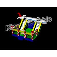 Wholesale Outdoor And Indoor Play Airplane Inflatable Dry Slide With CE Certificate from china suppliers