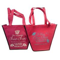 Wholesale 75g Pink Trapezium Nonwoven Fabric Reusable Carrier Bags With Customized Logo For Girls from china suppliers