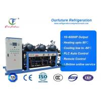 China R404a Hanbell parallel screw compressor racks for frozen food storage on sale