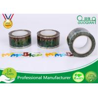 Quality Personalized Red / Black / Yellow Bopp Adhesive Tape For Box Seal Packaging for sale