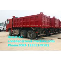 Wholesale Fire Red Sinotruk HOWO 336hp Heavy Dump Truck With 18M3 Bucket 10 Tires from china suppliers
