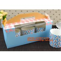 Wholesale CRAFT CAKE BOX WITH PVC WINDOW, 400 GSM SBS IVORY BOARD PAPER CAKE BOX FOOD GRADE FOOD PACKING BOX WITH GLOSSY LAMINATIO from china suppliers