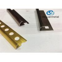 Quality Different Punched Metal Edging Strip Shiny Golden Aluminium Trim Profile for sale