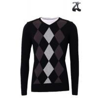 Wholesale Men's Knitted V Neck Pullover Sweater Long Sleeve With Insert Collar XXS - XXXL from china suppliers