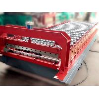 Wholesale Color Steel Roof Panel Roll Forming Machine 18 Units Roll Forming Stations Use Full Automate Control by Siemens PLC from china suppliers