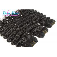 "Wholesale Nice 12"" 14"" Deep Wave Cambodian Hair Bundles Double Wefted Hair Extensions from china suppliers"