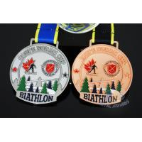 Buy cheap Canada Sports Skiing Events Custom Metal Medals, Raised Metal Shiny And Recess from wholesalers