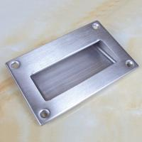 Quality Large size125x83mm stainless steel flush hidden door pull handle for sale