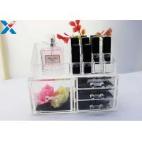 Wholesale Rectangle Acrylic Makeup Drawer Organizer / Acrylic Cosmetic Organiser ROHS Approved from china suppliers