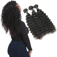 Wholesale Real 9A 20 Inch Deep Wave Curly Hair Extensions 3 Bundles Prevent Shedding from china suppliers