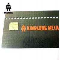 Wholesale CR80  Grid Finished Metal Membership Card , Square Brushed Metal Business Cards from china suppliers
