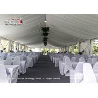 UV Resistance Luxury Wedding Tents With White Lining And Curtain Decoration for sale