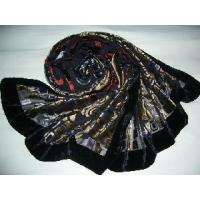 Wholesale Burntout Silk Velvet Scarf (LC-C215) from china suppliers