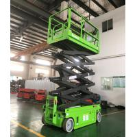 China 10m Self Propelled Scissor Lift Aerial Work Platform 320Kg Loading Capacity With Extendable Platform for sale