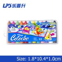 Wholesale Chirldren Highlight Water Soluble Wax Crayons 12 Colors EN71 PART3 from china suppliers