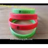 manufacturer custom debossed/embossed/printed silicone bracelets glow in dark for sale