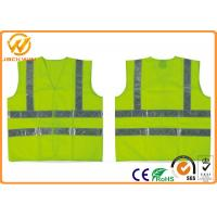 Wholesale Fluorescent Green / Orange High Visibility Safety Jacket with Reflective Strip from china suppliers