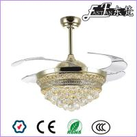 China East Fan 42inch Retractable Blade crystal Ceiling Fan with light Modern ceiling fan light on sale