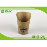 Wholesale Custom Logo Printed Kraft Paper French Fries Cups BRC Certificated 9oz from china suppliers