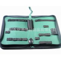 Wholesale Home Small Soft Canvas Tool Bag With14 Elastic Bands 32*21*5.5 Cm from china suppliers