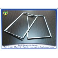China One Time Bending Forming machined aluminum TV Frame Profiles Silver Anodizing on sale