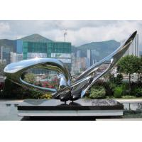 Buy cheap Contemporary Modern Stainless Steel Sculpture , Large Garden Metal Art Sculpture from wholesalers