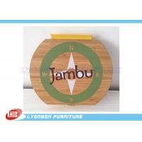 Wholesale OEM Circle Hangable Wood Engraving Logo Printing , Wooden Logo / Plaques from china suppliers