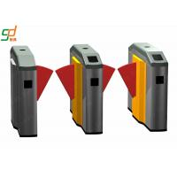 Wholesale Electrical Flap Barrier Gate / Automation Subway Turnstyle Rfid Door Entry System from china suppliers
