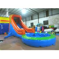 Single slide inflatable water slide small inflatable water slide with pool for kids for sale