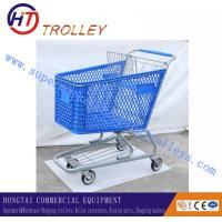Wholesale Colourful Plastic Shopping Trolley For Supermarket With Handle 165 Litre from china suppliers