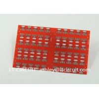 Wholesale Red LPI Solder Mask Double Sided PCB 0.8mm Lead Free HASL White Silkscreen from china suppliers