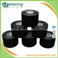 Wholesale Elastic cotton sports therapy tape kinesio taping 5cmX5m black colour from china suppliers