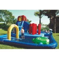 Quality Double Lane Inflatable Water Park , Kids Inflatable Wate Slide for sale