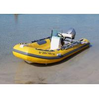 Buy cheap Fiberglass Hull Small Rib Boat 3.9 M Yellow Dimensional Stability With Boat from wholesalers