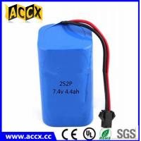 Wholesale rechargeable 7.4v 4400mah lithium ion battery pack for power bank/helmet lamp from china suppliers