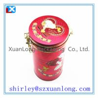 Buy cheap Round tea tin can with inner lid www.xuanlongpackagingco.com from wholesalers