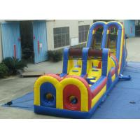 China Giant Customized Obstacle Course Jumpers , Indoor Moonwalk Obstacle Course for sale