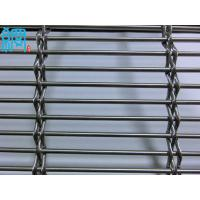 China Architectural Woven Metal Wire Mesh Facades-Barrette Weave/Cable Mesh System on sale