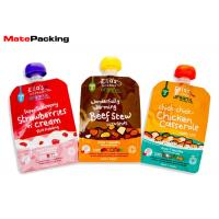 Wholesale BPA Free Liquid Spout Bag , Custom Print Stand Up Spout Baby Food Pouches from china suppliers