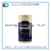 Wholesale round tin wine bottle box from china suppliers