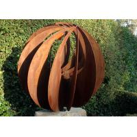 Wholesale Corten Steel Hollow Outdoor Metal Sphere Sculpture Various Size Available from china suppliers
