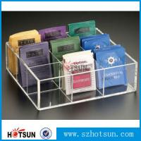 Quality First class decor custom design tabletop clear acrylic tea box for sale