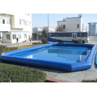 Wholesale Children Blue Inflatable Deep Swimming Pool , Big Above Ground Blow Up Pools from china suppliers