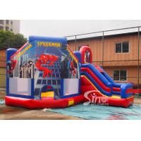 6x5m kids spiderman inflatable jumping castle with slide for sale price from Sino Inflatables for sale