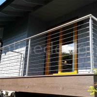 Wholesale House Balcony Project 304 / 316 Stainless Steel Wire Cable Rail Outdoor Metal Stair Railing from china suppliers