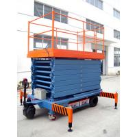 China Portable Motorized Aerial Working Mobile Scissor Lift Platform 14 Meters Height for sale