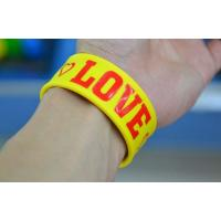 Quality cheap silicone slap bracelet , silicone bracelets wristband price for sale