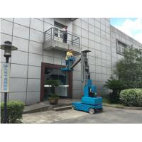 Buy cheap Blue Self Propelled Hydraulic One Man Lift Ladder With 360 Degree Rotation from wholesalers
